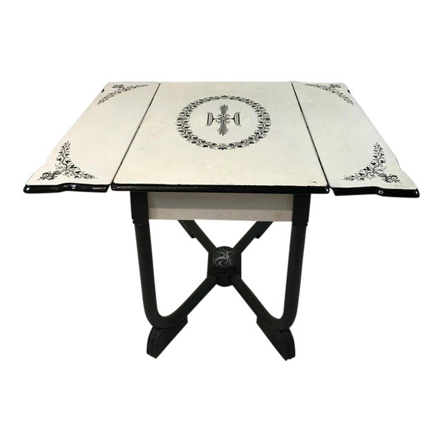 1930s Art Deco Metal Folding Dining Table For Sale