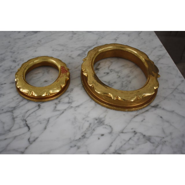 Pair of Gilt Oval Frames For Sale - Image 10 of 13