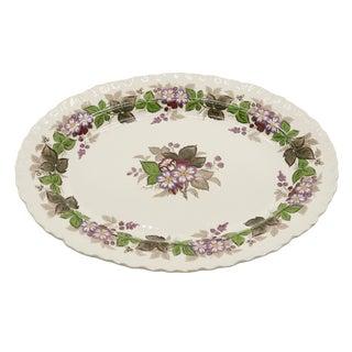 Floral Ceramic Serving Platter by Wedgwood For Sale
