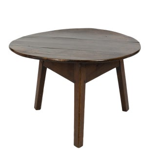 Low Fruitwood Cricket Table, English Circa 1850 For Sale