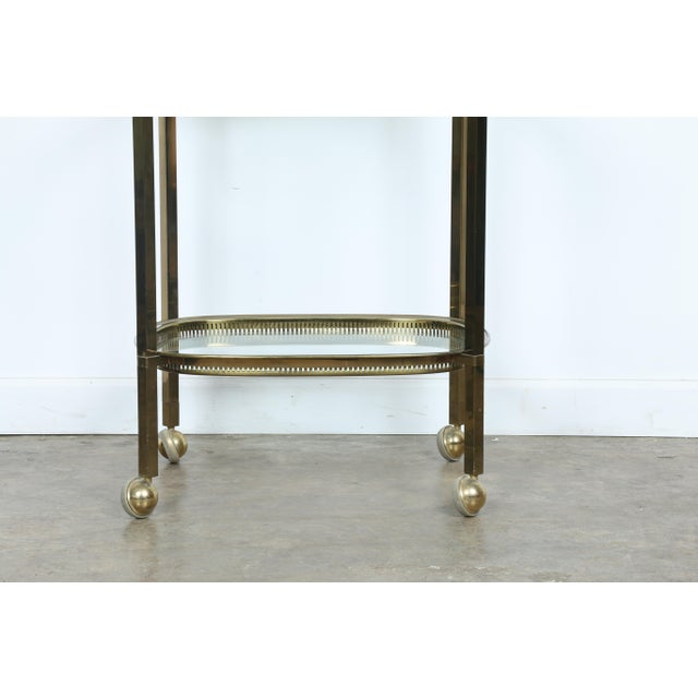 Mid-Century Gold-Tone Bar Cart - Image 4 of 11