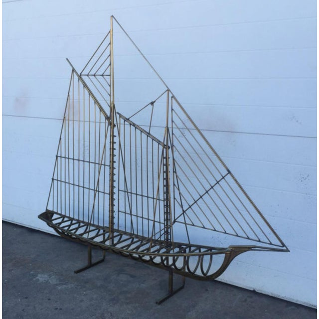 Curtis Jere Brass Boat Sculpture - Image 4 of 6