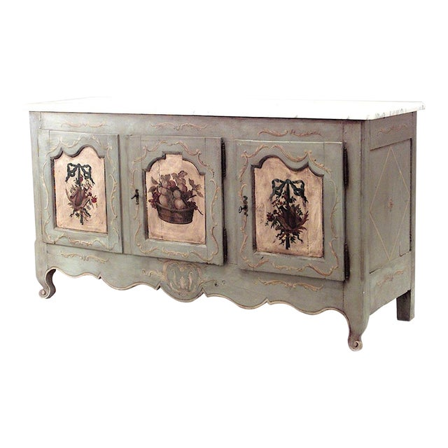 French Provincial Grey Painted Commode For Sale