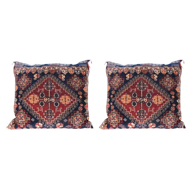 Textile Pair of Qashqai Bagface Pillows For Sale - Image 7 of 7