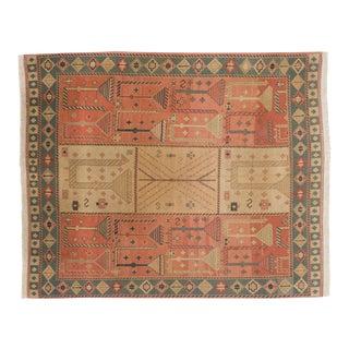 """Vintage Indian Qashqai Soumac Design Carpet - 9'3"""" X 11'6"""" For Sale"""