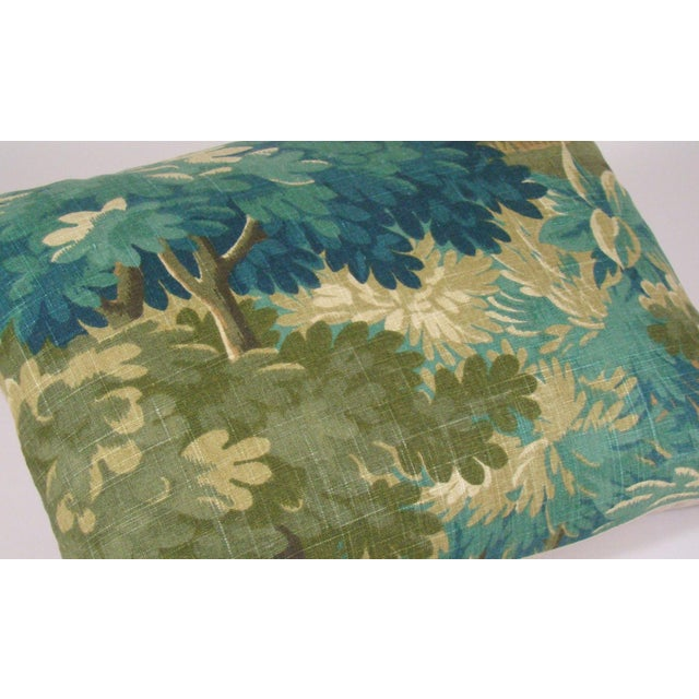Textile Verdure Print Linen Large Lumbar Pillow Cover For Sale - Image 7 of 11