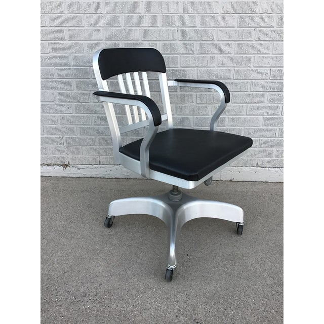 Vintage Emeco Rolling Office Chair For Sale - Image 13 of 13