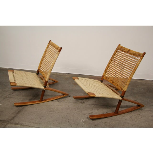 1950s Mid-Century Modern Frederik Kayser Rocking Chairs - a Pair For Sale In San Diego - Image 6 of 13