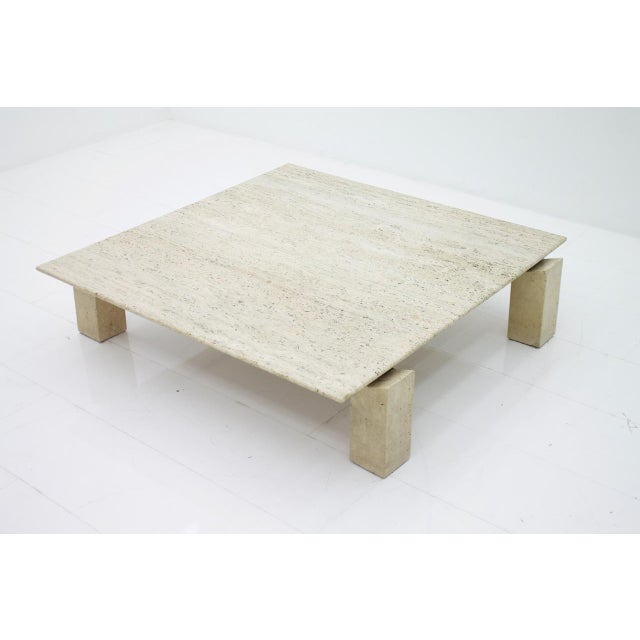 Large Travertine Coffee Table 1960s For Sale - Image 10 of 10