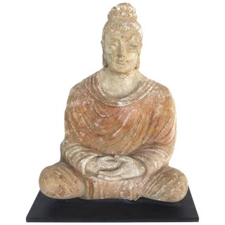 17th Century Terracotta Buddha Sculpture, Bangladesh, Provenance Royal-Athena Galleries For Sale