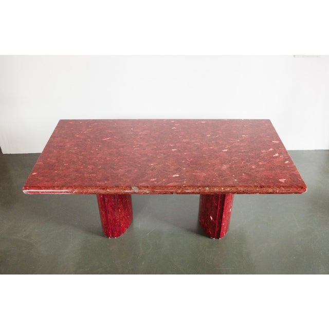 Red Quartz Dining Table For Sale - Image 4 of 10