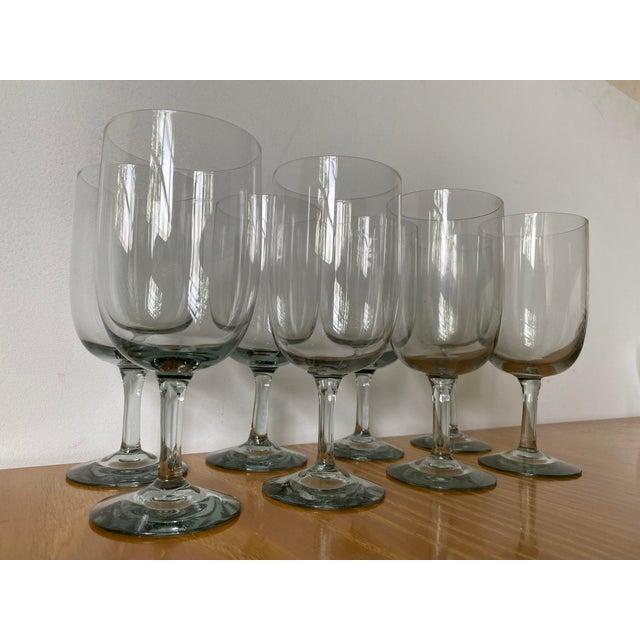 Mid-Century Modern 1950s Holmegaard Denmark Elsinore Smoke Glass Stemware - Set of 8 For Sale - Image 3 of 8