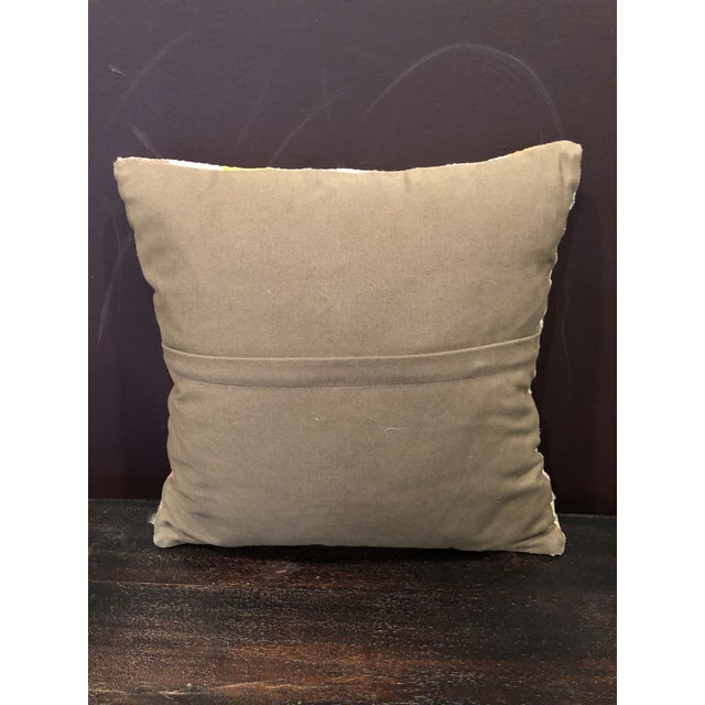 Contemporary Antique Kilim Throw Pillow For Sale - Image 3 of 4