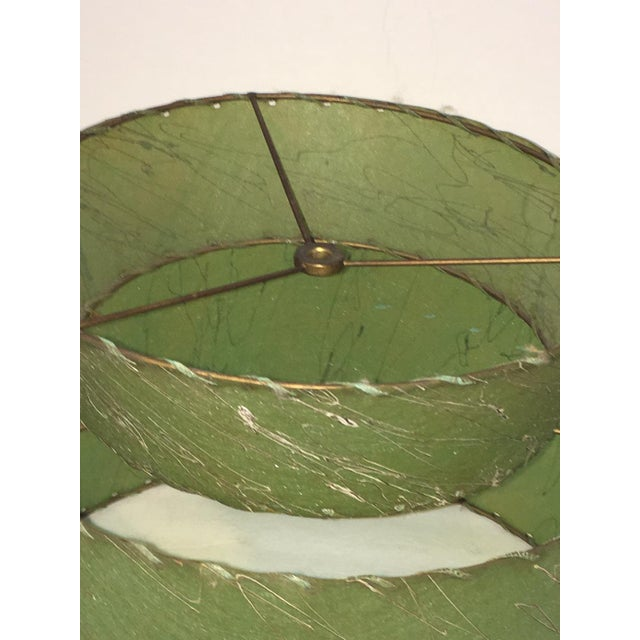 Atomic Green Fiberglass 2 Tier Lampshade For Sale In New York - Image 6 of 6