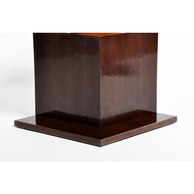 Brown Hungarian Walnut and Maple Veneer Side Table With Shelves For Sale - Image 8 of 13