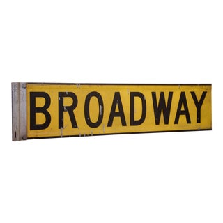 """1960s New York City """"Broadway"""" Street Sign For Sale"""