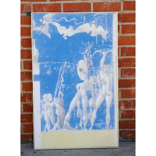 Art Deco Large William Haines Canvases Drawing For Sale - Image 3 of 10