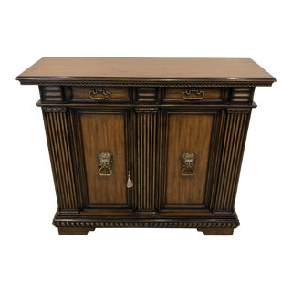 Theodore Alexander Mahogany Console Cabinet For Sale