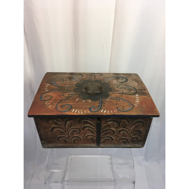 Late 18th Century Antique Norwegian Folk Art Box For Sale - Image 12 of 12
