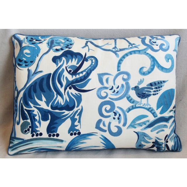 """Early 21st Century P. Kaufmann Blue & White Animal Feather/Down Pillows 22"""" X 16"""" - Pair For Sale - Image 5 of 13"""