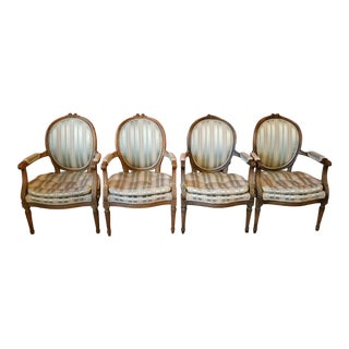 Vintage French Louis XVI Armchairs - Set of 4 For Sale