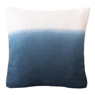 Anaya Indigo Blue Ombre Linen Pillow