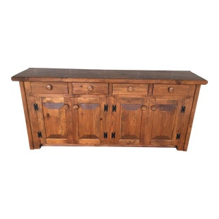 Hunt Country Furniture Rough Cut Solid Pine Sideboard For Sale