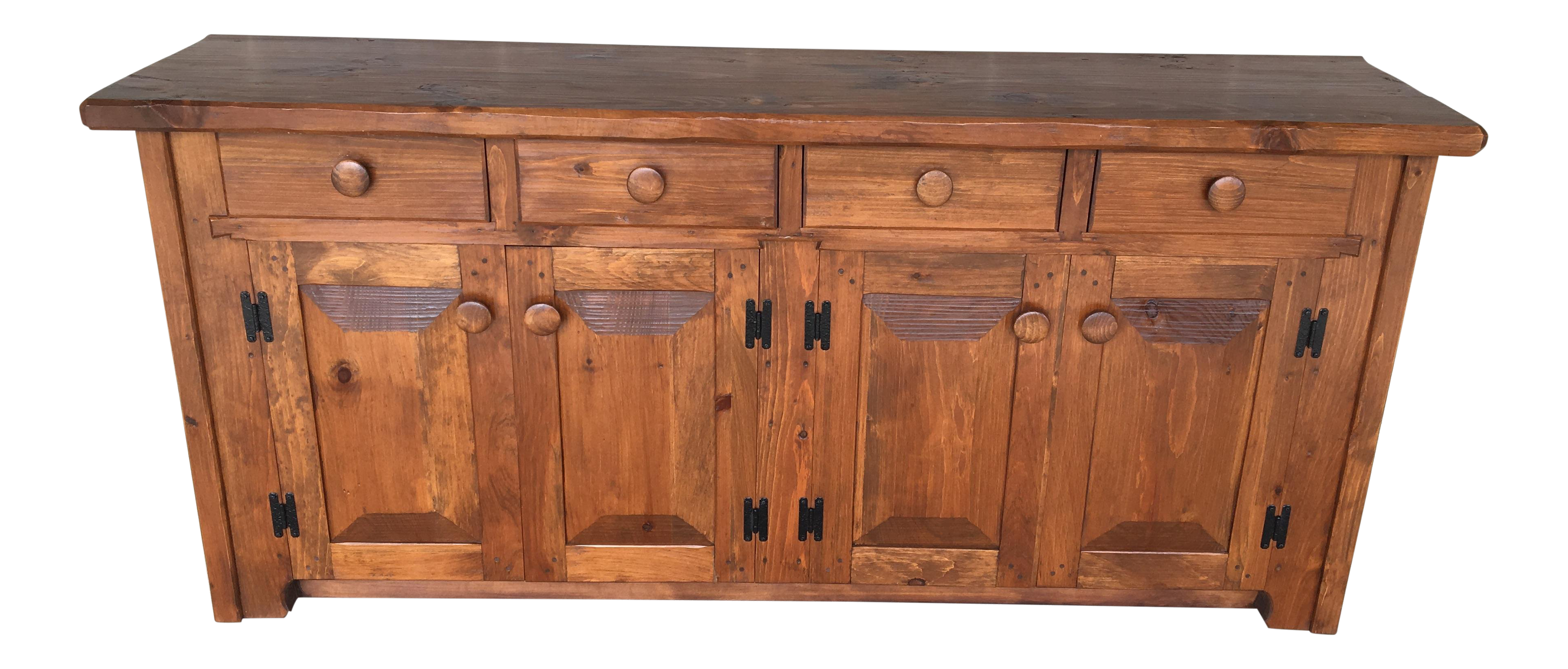 Hunt Country Furniture Rough Cut Solid Pine Sideboard