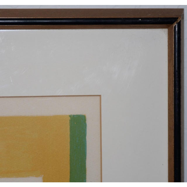 Abstract Marcel Mouly (French, 1918-2008) Vintage Lithograph Signed / Numbered C.1980s For Sale - Image 3 of 10