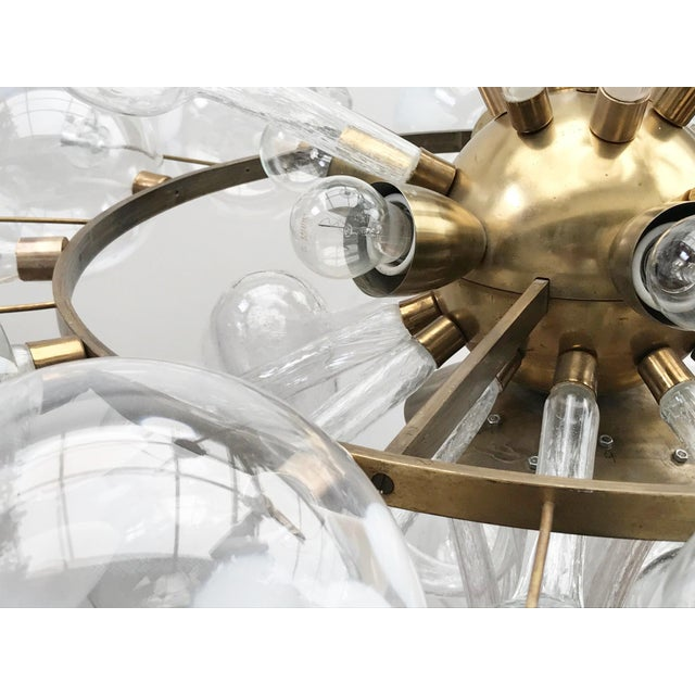Mid-Century Modern 1960s Czech Republic Glass Suspension Chandelier For Sale - Image 3 of 12
