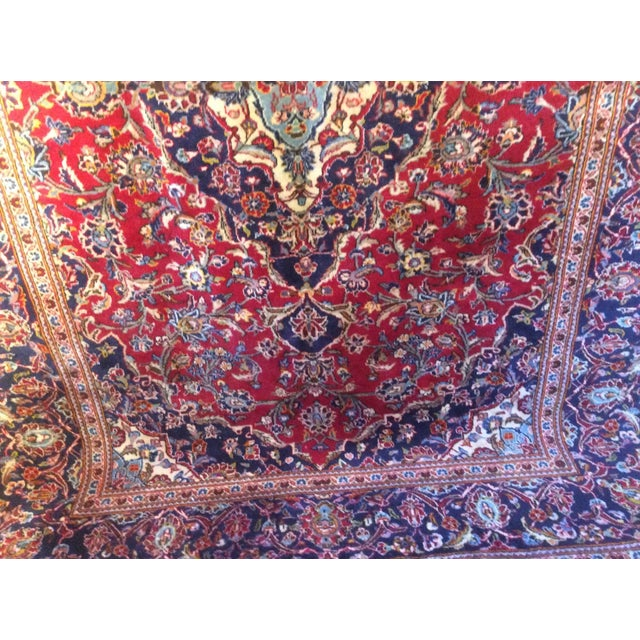 Vintage Oriental Kashan Hand Made Rug - 6′6″ × 9′8″ - Image 3 of 7