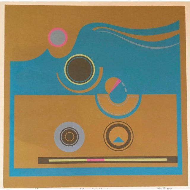Mid-Century Modern Robert Hunter Serigraph - 1973 For Sale