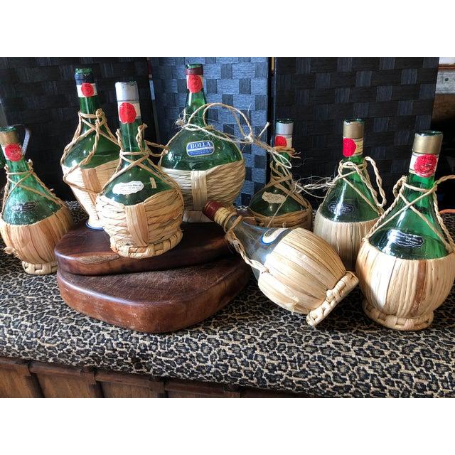 Vintage Italian Demijohn Wine Bottles - Set of 8 For Sale - Image 13 of 13