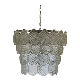 Global Views Murano Leaf Tiered Chandelier For Sale