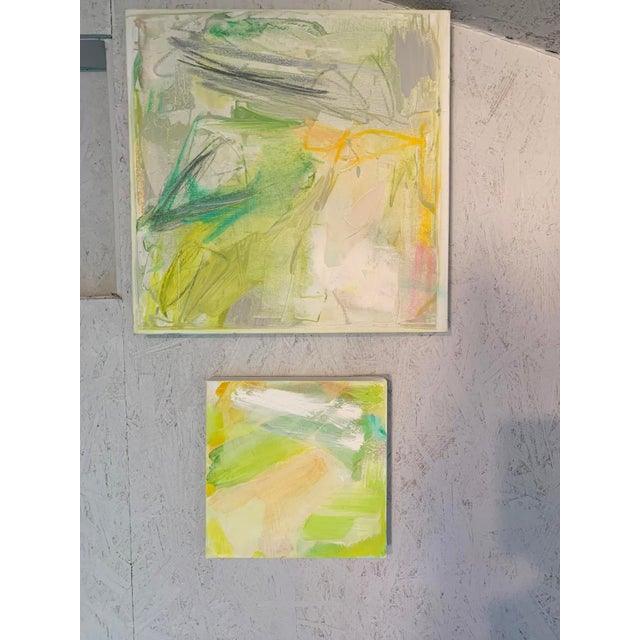 """""""Morning Mist"""" Mini Abstract Oil Painting by Trixie Pitts For Sale In Nashville - Image 6 of 6"""