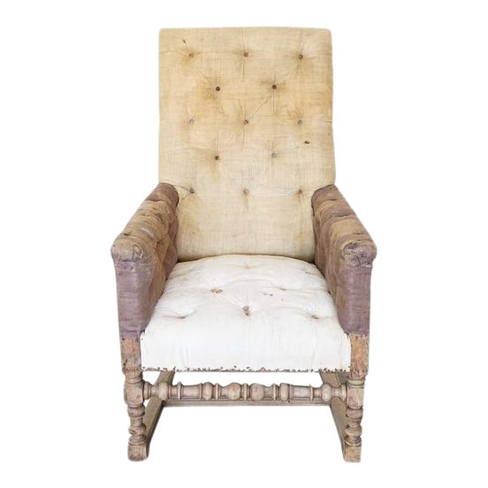 Antique Tall Back Chair For Sale