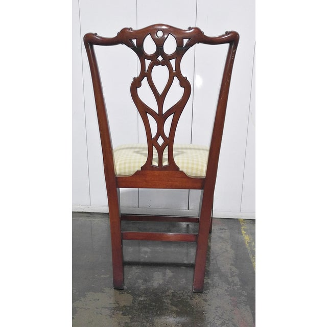 """1990s English Chippendale Dining Chairs by """"Restall, Brown & Clennell Ltd"""" - Set of 12 For Sale In Los Angeles - Image 6 of 13"""
