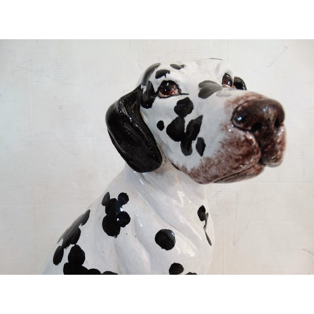 Red Mid-Century Modern Italian Dalmatian Dog Statue For Sale - Image 8 of 8