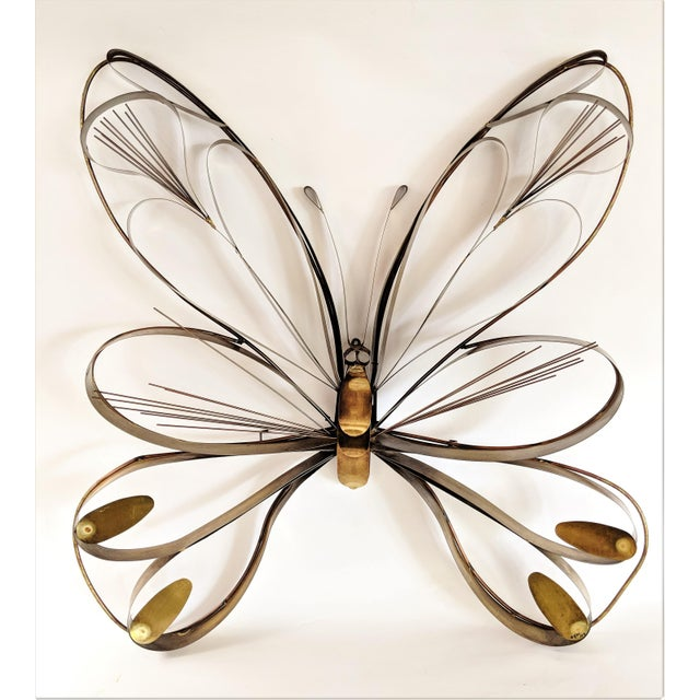 Curtis Here 1974 Mid-Century Modern Brass Butterfly Wall Sculpture For Sale - Image 13 of 13