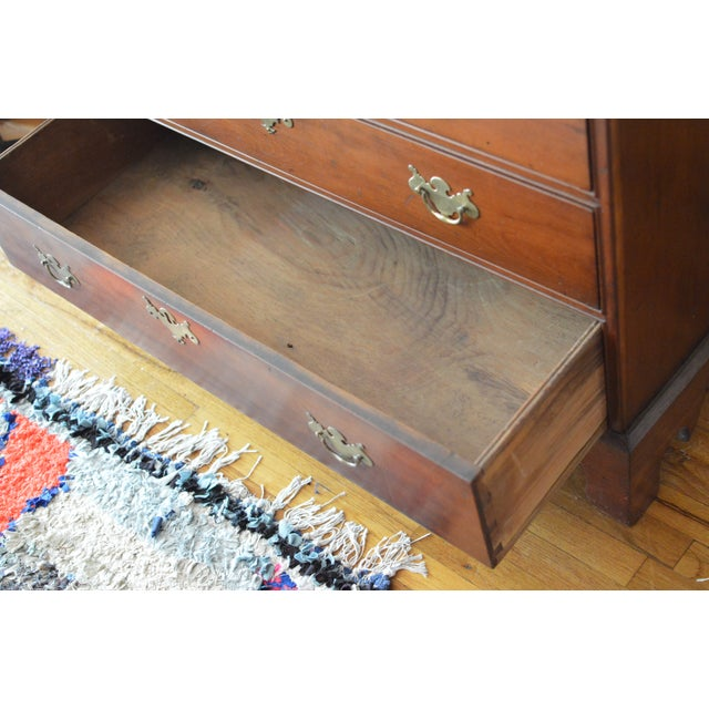 18th Century Chippendale Amphitheater Interior Mahogany Desk For Sale - Image 9 of 11