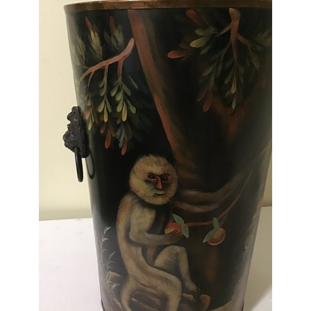 French Mario Lopez Torres Style Monkey Lion Umbrella Stand For Sale - Image 3 of 13