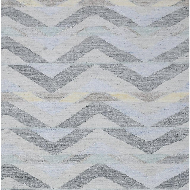 Contemporary Schumacher Patterson Flynn Martin Solona Hand Woven Geometric Rug For Sale - Image 3 of 5