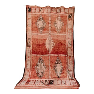 "Boujad Vintage Moroccan Rug, 6'0"" X 10'8"" Feet For Sale"