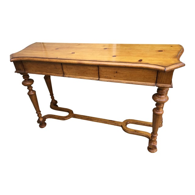 Vintage Style Pine Console - Image 1 of 10