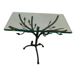 Giacometti Style Iron Based Side Table For Sale