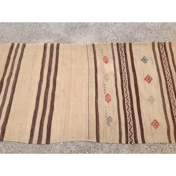 "Vintage Striped Kilim Runner - 2'1"" X 7'6"" - Image 4 of 5"