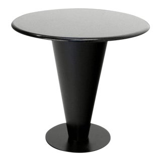 Mid-Century Modern Apollo Woodworking Black Granite Top Gueridon Table For Sale
