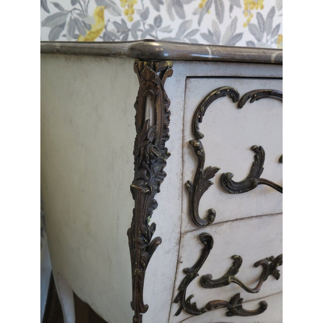 Stone 19th Century Rococo Painted Commode For Sale - Image 7 of 9