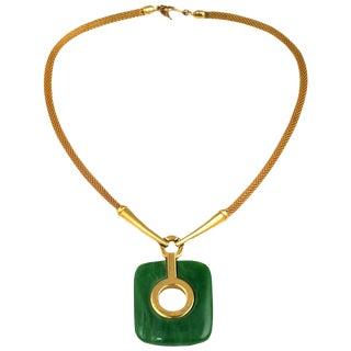 Trifari Bakelite Pendant Necklace For Sale