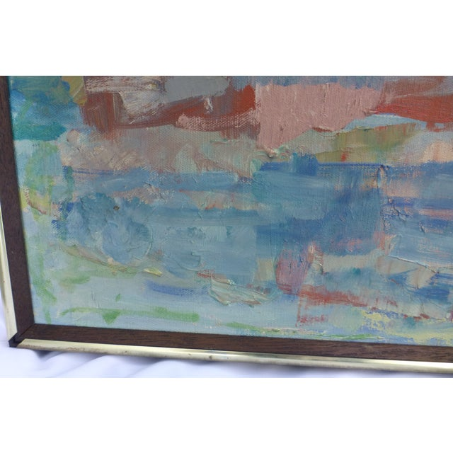 Signed Abstract Oil Painting by Jean Gunther, Listed Artist - Image 7 of 13